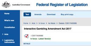 Australian online gambling laws