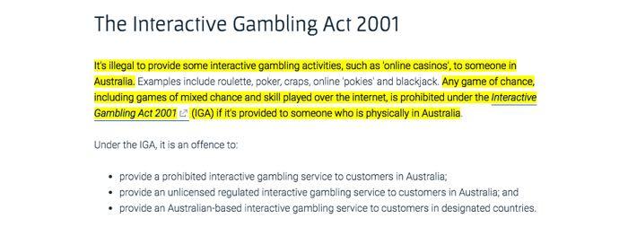 The Interactive Gambling Act